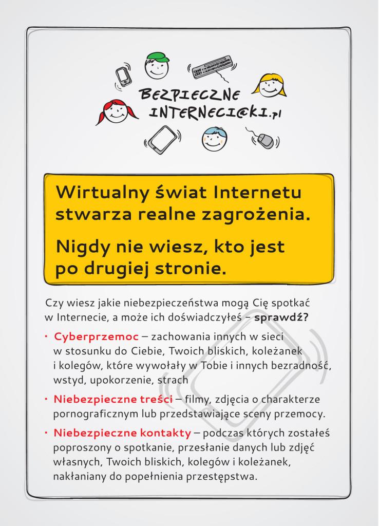 Ulotka Bezpieczneinterneciaki.pl